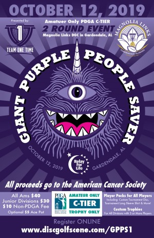 The Giant Purple People Saver - A Relay For Life Event graphic