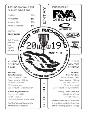 Tour De Richmond Sponsored by Latitude 64 and RVA Disc Life graphic