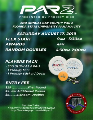 2nd Annual Bay County Par 2 Powered by Prodigy Discs graphic