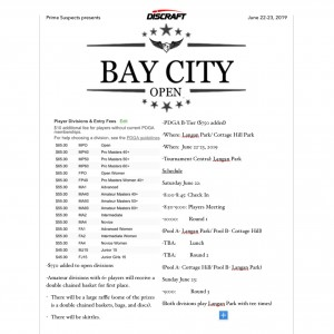 Bay City Open graphic