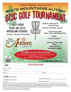 White Mountains Autism Disc Golf Tournament graphic