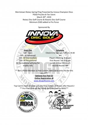 Morristown Spring Fling Presented by Innova Champion Discs graphic