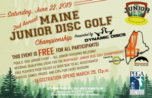 2nd Annual Maine Junior Disc Golf Championship Presented by Dynamic Discs graphic