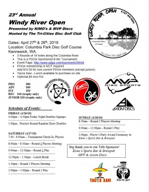 23rd Annual Windy River Open graphic