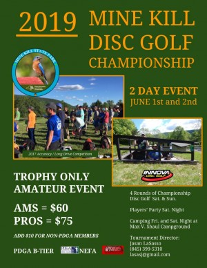 2019 Mine Kill Disc Golf Championship graphic