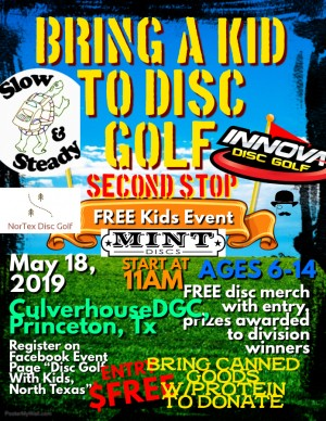 Bring A Kid To Disc Golf 2019, CulverhouseDGC graphic