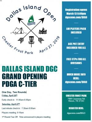 Dallas Island Open - Grand Opening graphic