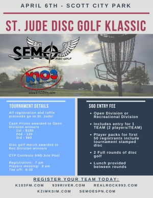 St. Jude Disc Golf Klassic graphic