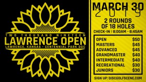2019 Lawrence Open Presented By Dynamic Discs Kansas City in association with Kaw Valley Disc Golf Club graphic