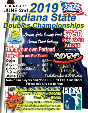 2019 Indiana State Doubles Championships graphic