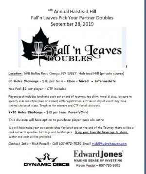 7th Annual Fall'N Leaves  Doubles graphic