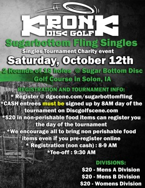 Sugar Bottom Fling - Singles event for charity graphic
