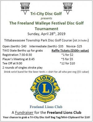 Freeland Walleye Fest Disc Golf Tournament graphic