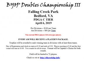 BYOP Doubles Championship III graphic