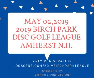 Breakin Chains Disc Golf Presents: 2019 Birch Park Tag League graphic