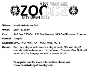 Zoo City Open 2019 - Powered by Prodigy graphic