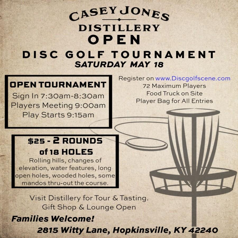 Casey Jones Open (2019, Casey Jones Distillery) · Disc Golf