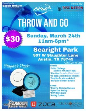 Throw & Go MVP with Sarah Hokom (Austin, TX) graphic