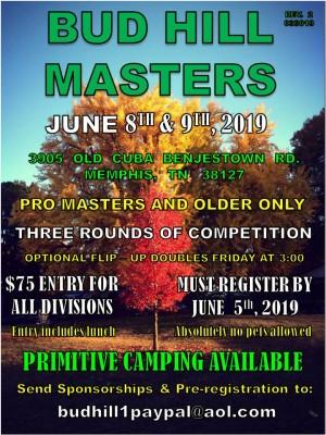 2019 Budhill Masters graphic