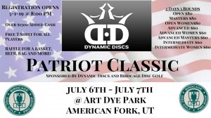7th Annual Patriot Classic Sponsored By Dynamic Discs graphic