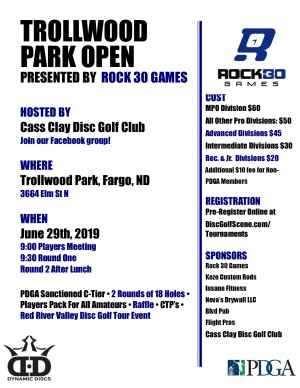 Trollwood Park Open Presented by Rock 30 Games graphic