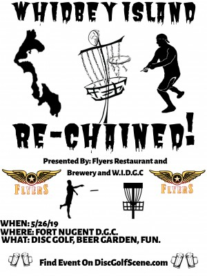 """Whidbey Island Disc Golf Club Presents """"RECHAINED"""" graphic"""