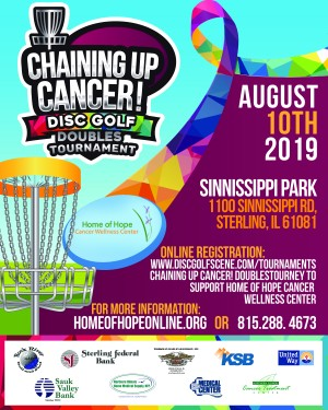 Chaining Up Cancer! Doubles Tourney to Support Home of Hope Cancer Wellness Center graphic