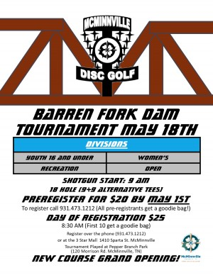 Barren Fork Dam Tournament graphic