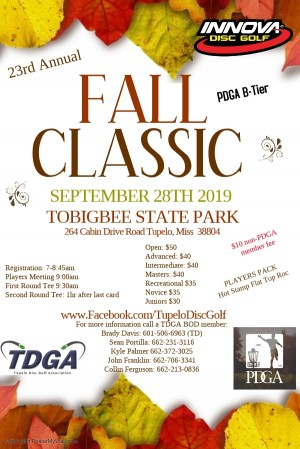 23rd Annual Fall Classic graphic