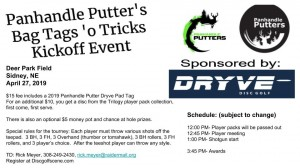 Panhandle Putter's Bag Tags 'o Tricks Kickoff graphic