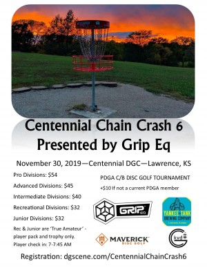 Maverick DG: Centennial Chain Crash 6 pres by Grip Equipment graphic