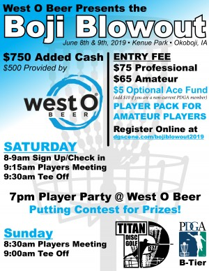 Boji Blowout 2019 Presented by West O Beer graphic