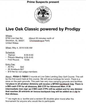 Live Oak Classic graphic
