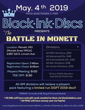 Battle in Monett, Presented by Black Ink Discs graphic