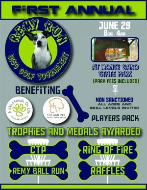 1st Annual Remy Run disc golf tournament graphic