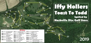 Iffy Hollers Toast To Todd Ignited by Nashville Disc Golf Store graphic