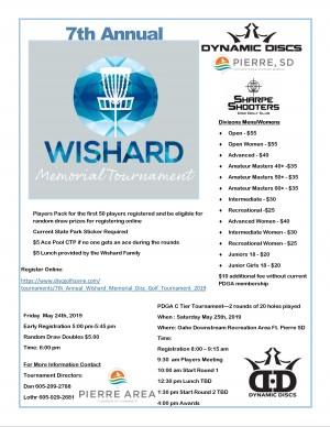 7th Annual Wishard Memorial Disc Golf Tournament graphic