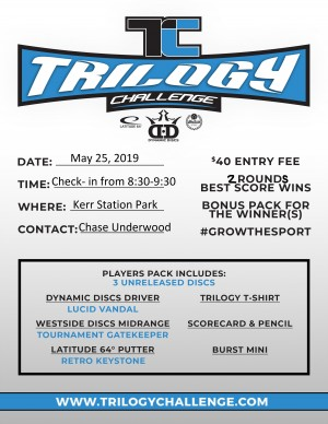 2019 Trilogy Challenge at Kerr Station Park graphic