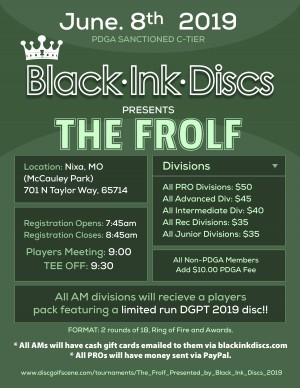 The Frolf, Presented by Black Ink Discs graphic