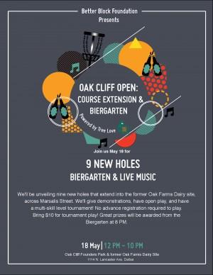 Oak Cliff Disc Golf Course Extension Tournament & Open Play graphic