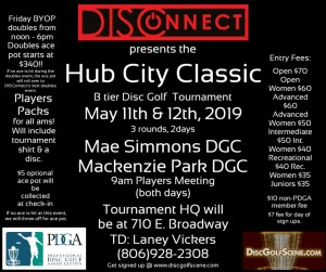 DISConnect DG presents the Hub City Classic graphic