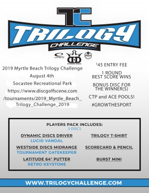 2019 Myrtle Beach Trilogy Challenge graphic