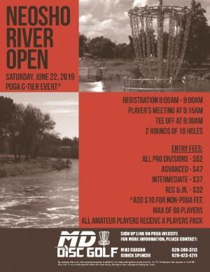 Neosho River Open 2019 graphic