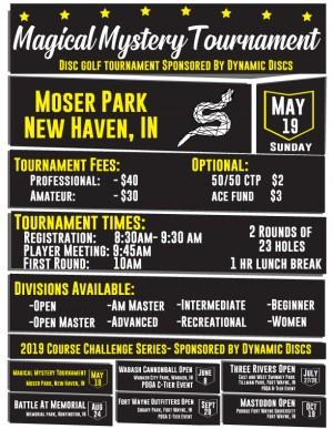 Magical Mystery Tournament 2019- Sponsored by Dynamic Discs graphic