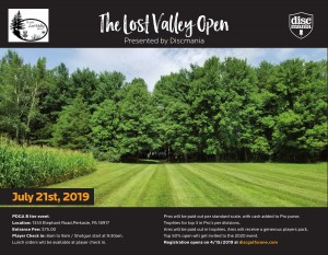 The Lost Valley Open presented by Discmania graphic