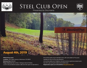 The Steel Club Open presented by Discmania graphic