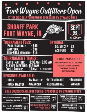 Fort Wayne Outfitters Open - Sponsored by Dynamic Discs graphic