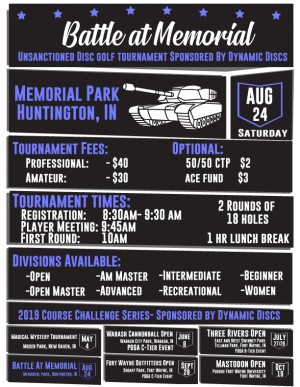 Battle at Memorial- Presented by Dynamic Discs graphic