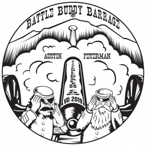 """VD 2019 """"Battle Buddy Barrage"""" Presented by Austin Peterman """"discgolfrealtor.com"""" Driven by INNOVA graphic"""
