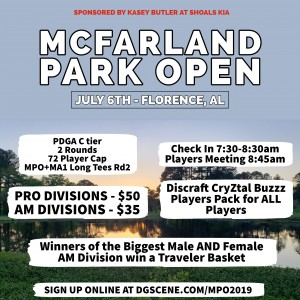 McFarland Park Open graphic